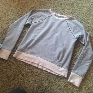 Pink and black stripped long sleeved tee